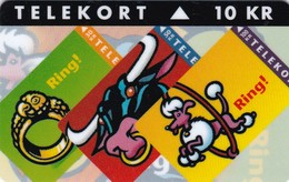 Denmark, TP 097B, New Definitive Cards, Mint, Only 1000 Issued, Cards On Card, 2 Scans. - Denmark