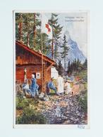 5089 Prima Guerra Pubblicitaria Pubblicita Militare 1915 Offizielle Karte Fur Rotes Kreuz Croce Rossa Nr 215 Hilfplatz - Guerra 1914-18