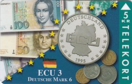 Denmark, TP 083, Ecu Series - Germany, Coins, Notes, Flag, Only 1500 Issued. - Denmark