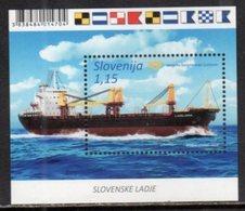 SLOVENIA,  2018, MNH, SHIPS, S/SHEET - Bateaux