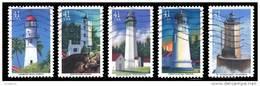 Etats-Unis / United States (Scott No.4146-50 -Pacific  Lighthouses) (o) Serie De 5 / Set Of - Verenigde Staten