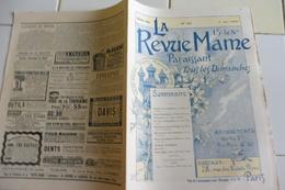 LA REVUE MAME -No 83-3 MAI 1896-LES JEUX OLYMPIQUES-MONTMARTRE DANS L'HISTOIRE-LE TSAR NICOLAS II- - Journaux - Quotidiens