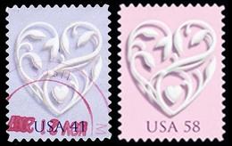 Etats-Unis / United States (Scott No.4151-52 - LOVE) (o) - Etats-Unis