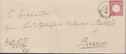 DR 19 EF Auf Brief Mit Stempel (K2): HARPSTEDT 18 2 (?), Nach Bassum, Adler Mit Großem Brustschild - Deutschland