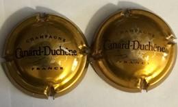 4 - Capsule De Champagne N°75 X2 - Canard-Duchêne, Bronze (petites Lettres & Lettres épaisses) - Canard Duchêne