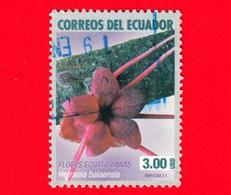 ECUADOR - Usato - 2011  - Fiori - Flowers - Fleurs - Merrania Balaensis - 3.00 - Ecuador