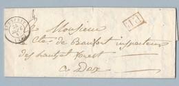LAC De Recommandation Conte De St Ambaire De Bayonne Du 24/9/1844 Pour Conte De Baufort Inspecteur H Et Forets De  DAX - 1801-1848: Precursors XIX