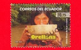 ECUADOR - Usato - 2011  - Storia - Orellana, Etnia Shuar  - 0.25 - Ecuador