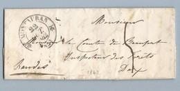 LAC En Anglais De Montauban 22/10/1842 Pour Comte De Beaufort Dax - Marcophilie (Lettres)