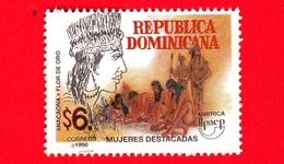REP. DOMENICANA - Usato - 1998 - UPAEP America - Donne Famose - Anaconda  Flor De Oro - $ 6. - Repubblica Domenicana