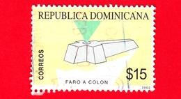 REP. DOMENICANA - Usato - 2002 - Faro  Di Colombo - Transportation (Ships & Navigation) (Lighthouses) - 15 - Repubblica Domenicana