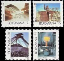 (088) Botswana  1984 / Mining / Mines / Bergbau  ** / Mnh  Michel 337-40 - Botswana (1966-...)