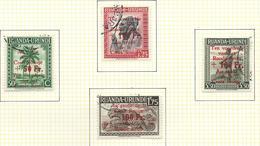 Croix-Rouge / Rode Kruis O.C. 150/153 Oblitéré /gestempeld USED  O.C. 5,00€ - Ruanda-Urundi