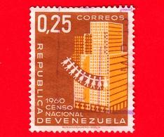 VENEZUELA - Usato - 1961 - Censimento Nazionale Della Popolazione 1960 - 0.25 - Venezuela
