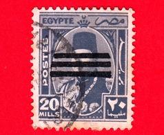 EGITTO - Usato - 1953 - Re Farouk In Un Ovale - Sovrastampato - 20 - Egitto