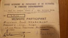 CAISSE AUTONOME DE PREVOYANCE ET DE RETRAITES DE L'INDUSTRIE CINEMATOGRAPHIQUE CINE SIEGES - Cartes