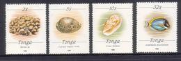 Tonga1990 Large Size Marine Life Set MNH (only Used For 3 Months) - Very Scarce Set - Read Description - Tonga (1970-...)