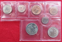 RSA South Africa Set 1/2 1 2 5 10 20 50 Cents 1972 #A UNC Africa Do Sul Afrique Do Sud Zuid Afrika Sudafrica - Sudáfrica
