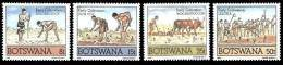 (110) Botswana  1988 / Field Work / Agriculture  / Landarbeit  ** / Mnh  Michel 427-30 - Botswana (1966-...)