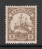 006538 Germany Caroline Is 1919 3pf MH - Colony: Caroline Islands