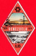VENEZUELA - Usato - 1974 - Centenario Del Ministero Dei Lavori Pubblici - Ponte Sul Fiume Orinoco - 0.85 - Venezuela