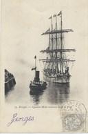 76 - Dieppe - Quatre-Mâts Entrant Dans Le Port - Cpa Précurseur - Tampon Postal De 1902 - Voiliers