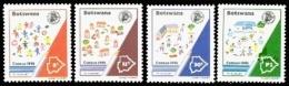 (131) Botswana  1991 / Census / Zählung  ** / Mnh  Michel 493-96 - Botswana (1966-...)