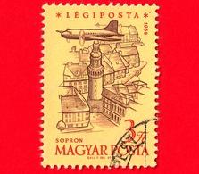UNGHERIA - Usato - 1958 - 40° Anniversario Dei Francobolli Di Posta Aerea Ungheresi - Heroes' Square, Budapest - 3 - Posta Aerea