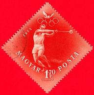 UNGHERIA - Usato - 1952 - Giochi Olimpici Di Helsinki - Lancio Del Martello - Hammer Throw - 1.70 - Posta Aerea