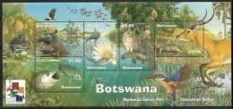(188) Botswana  2001 / Okavango Sheet / Bf / Bloc Hong Kong Overprint   ** / Mnh  Michel BL 33 I - Botswana (1966-...)