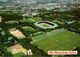 !  Moderne Luftbild Ansichtskarte Köln, Stadium, Müngersdorfer Fußball Stadion - Fútbol