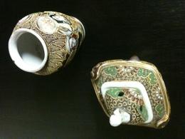Vases Meiji Tsatsuma Lot De 2 - Art Asiatique