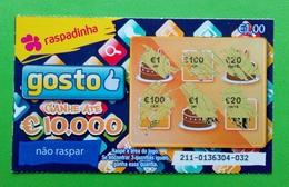 Billet De Loterie Instantanée, Portugal - Billets De Loterie