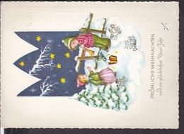 Postkarte Weihnachten , Neujahr 1962 - Weihnachten