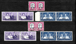 South West Africa 1947 KGVI Royal Visit, Complete Set In Horizontal Pairs MNH And Used (7155) - South West Africa (1923-1990)
