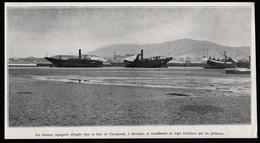 1936  --  BATEAUX ESPAGNOLS  REFUGIES DANS LA BAIE DE CHONGONDY HENDAYE  N173 - Vieux Papiers