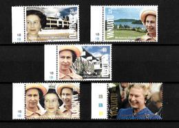 Vanuatu 1992 QEII 40th Anniversary Of Accession, Complete Set MNH Marginals (7166) - Vanuatu (1980-...)