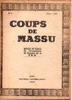 """BULLETIN DE LIAISON DU GROUPEMENT DE MARCHE DE LA 2e D.B. """"Coups De MASSU""""  N° 4 De 1946 - RARE ! - Documents"""