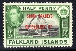 Falkland Island 1944 - 45 KGV1 1/2d South Orkneys Dependency MM SG C1 ( J975 ) - Falkland Islands