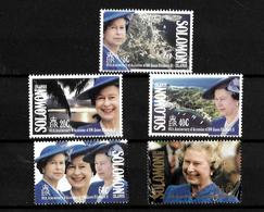Solomon Islands 1992 QEII 40th Anniversary Of Accession, Complete Set MNH (7168) - Solomon Islands (1978-...)