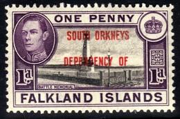 Falkland Island 1944 - 45 KGV1 1d South Orkneys Dependency MM SG C2 ( H578 ) - Falkland Islands