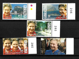 Gibraltar 1992 QEII 40th Anniversary Of Accession, Complete Set MNH Marginals (7170) - Gibraltar