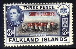 Falkland Island 1944 - 45 KGV1 3d South Orkneys Dependency MM SG C4 ( H652 ) - Falkland Islands