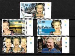 Kiribati 1992 QEII 40th Anniversary Of Accession, Complete Set MNH Marginals (7172) - Kiribati (1979-...)