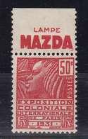 PUBLICITE: FEMME DE FACHI 50C ROUGE LAMPE MAZDA-horizontal H ACCP 687** - Advertising