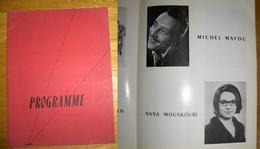 Programme Mixte Palais De Chaillot 1964 Dont Nana Mouskouri - Objets Dérivés