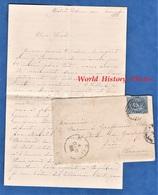 Enveloppe & Courrier - GENOVE , Hôtel Eden - 1888 - Envoi Au Baron De Graffenried Villars Chateau Carlepont - Italie