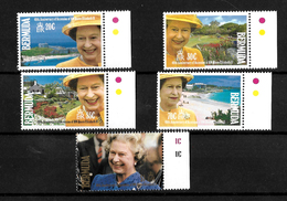 Bermuda 1992 QEII 40th Anniversary Of Accession, Complete Set MNH Marginals  (7180) - Bermuda