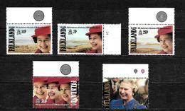 Falkland Islands 1992 QEII 40th Anniversary Of Accession, Complete Set MNH Marginals  (7181) - Falkland Islands