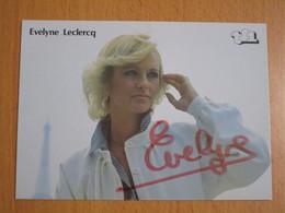 PHOTO DEDICACEE EVELYNE LELERCQ 1984 - Dédicacées